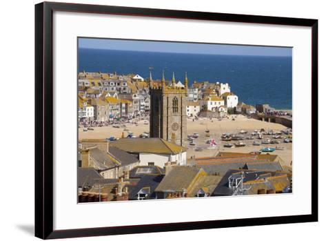 View over St. Ives, Cornwall, England, United Kingdom, Europe-Miles Ertman-Framed Art Print