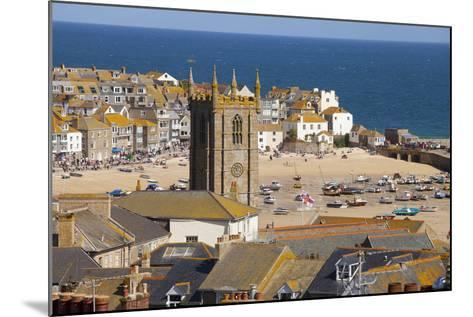 View over St. Ives, Cornwall, England, United Kingdom, Europe-Miles Ertman-Mounted Photographic Print