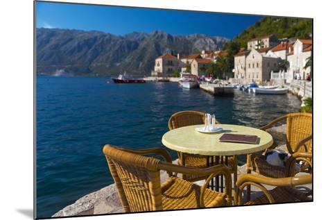 Montenegro, Bay of Kotor, Perast, Waterside Cafe-Alan Copson-Mounted Photographic Print