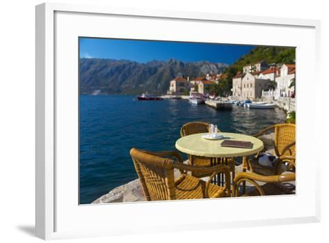 Montenegro, Bay of Kotor, Perast, Waterside Cafe-Alan Copson-Framed Art Print