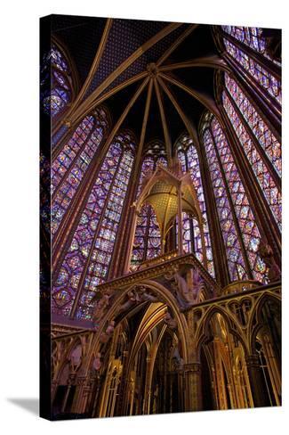 Sainte-Chapelle Interior, Paris, France, Europe-Neil Farrin-Stretched Canvas Print