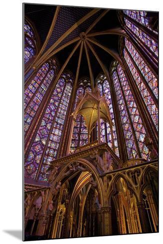 Sainte-Chapelle Interior, Paris, France, Europe-Neil Farrin-Mounted Photographic Print