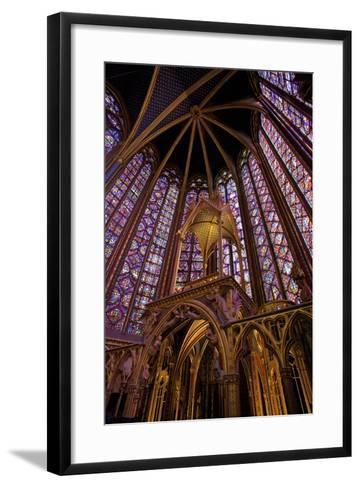 Sainte-Chapelle Interior, Paris, France, Europe-Neil Farrin-Framed Art Print