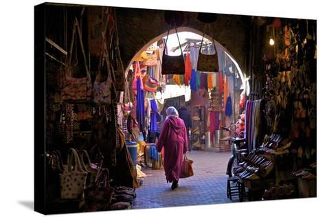 Souk, Marrakech, Morocco, North Africa, Africa-Neil Farrin-Stretched Canvas Print