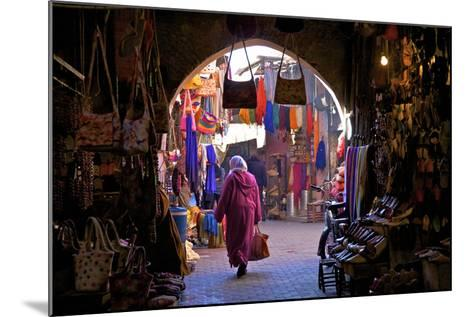 Souk, Marrakech, Morocco, North Africa, Africa-Neil Farrin-Mounted Photographic Print