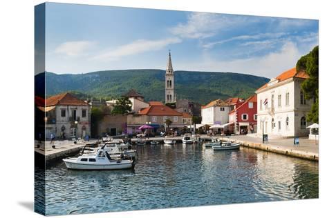 Jelsa Harbour, Hvar Island, Dalmatian Coast, Adriatic, Croatia, Europe-Matthew Williams-Ellis-Stretched Canvas Print
