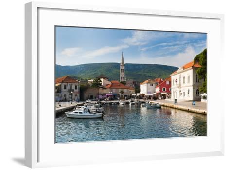 Jelsa Harbour, Hvar Island, Dalmatian Coast, Adriatic, Croatia, Europe-Matthew Williams-Ellis-Framed Art Print