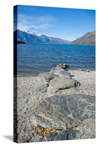 Lake Wakatipu at Queenstown, Otago, South Island, New Zealand, Pacific-Matthew Williams-Ellis-Stretched Canvas Print