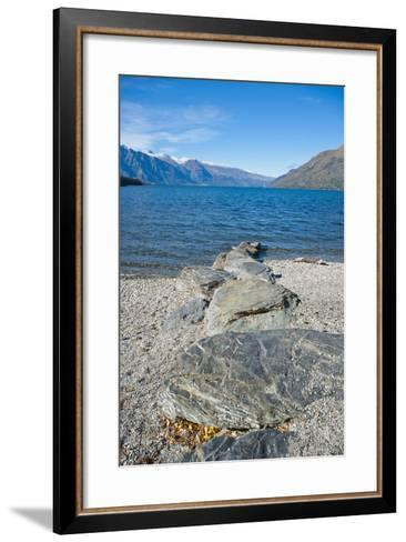 Lake Wakatipu at Queenstown, Otago, South Island, New Zealand, Pacific-Matthew Williams-Ellis-Framed Art Print