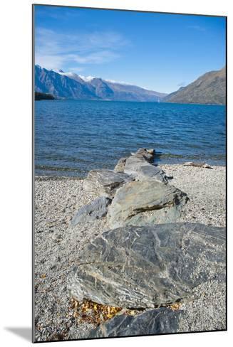 Lake Wakatipu at Queenstown, Otago, South Island, New Zealand, Pacific-Matthew Williams-Ellis-Mounted Photographic Print