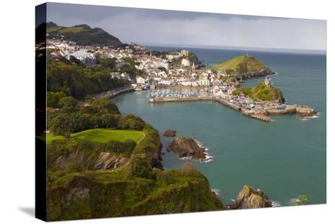 View over Ilfracombe, Devon, England, United Kingdom, Europe-Miles Ertman-Stretched Canvas Print