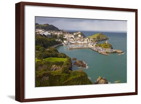 View over Ilfracombe, Devon, England, United Kingdom, Europe-Miles Ertman-Framed Art Print