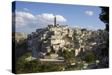 View of Matera from the Church, Matera, Basilicata, Italy, Europe-Olivier Goujon-Stretched Canvas Print