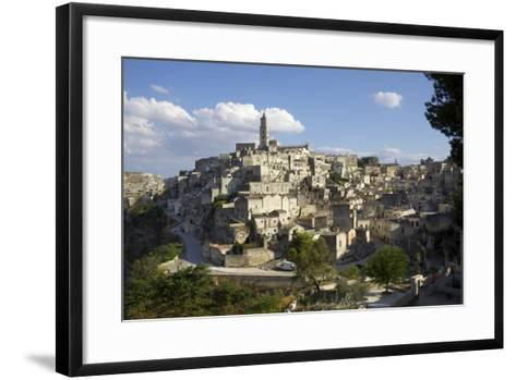 View of Matera from the Church, Matera, Basilicata, Italy, Europe-Olivier Goujon-Framed Art Print
