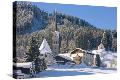 Gosau in Winter, Gosau, Salzkammergut, Austria, Europe-Miles Ertman-Stretched Canvas Print