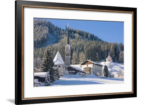 Gosau in Winter, Gosau, Salzkammergut, Austria, Europe-Miles Ertman-Framed Art Print