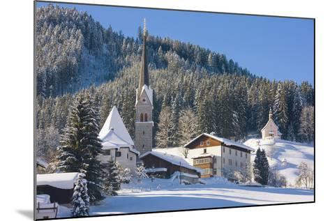 Gosau in Winter, Gosau, Salzkammergut, Austria, Europe-Miles Ertman-Mounted Photographic Print