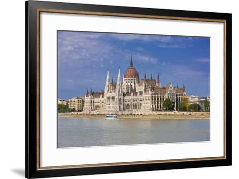 Parliament on the Banks of the River Danube, Budapest, Hungary, Europe-Michael Runkel-Framed Art Print