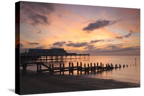 Aberystwyth Pier, Ceredigion, West Wales, United Kingdom, Europe-Billy Stock-Stretched Canvas Print