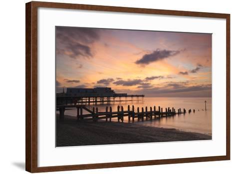 Aberystwyth Pier, Ceredigion, West Wales, United Kingdom, Europe-Billy Stock-Framed Art Print