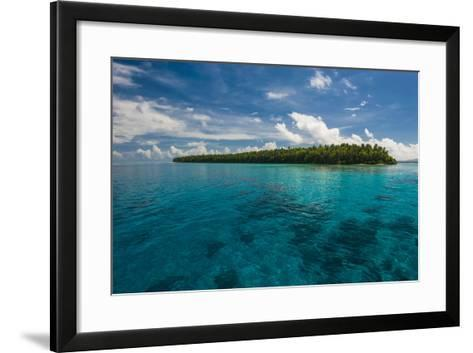 Little Islet in the Ant Atoll, Pohnpei, Micronesia, Pacific-Michael Runkel-Framed Art Print