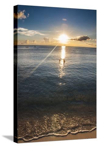 Sunset in Guam, Us Territory, Central Pacific, Pacific-Michael Runkel-Stretched Canvas Print