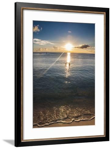 Sunset in Guam, Us Territory, Central Pacific, Pacific-Michael Runkel-Framed Art Print