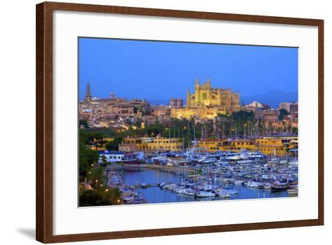 Cathedral and Harbour, Palma, Mallorca, Spain, Europe-Neil Farrin-Framed Art Print