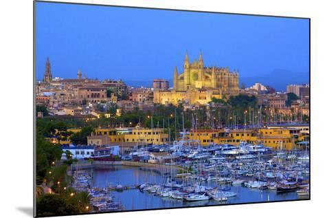 Cathedral and Harbour, Palma, Mallorca, Spain, Europe-Neil Farrin-Mounted Photographic Print