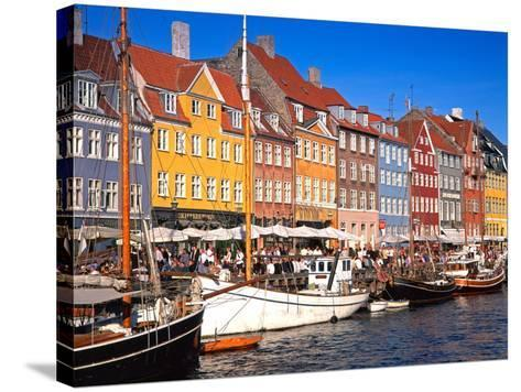 Waterfront District, Nyhavn, Copenhagen, Denmark, Scandinavia, Europe-Gavin Hellier-Stretched Canvas Print