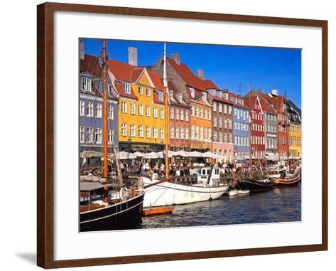 Waterfront District, Nyhavn, Copenhagen, Denmark, Scandinavia, Europe-Gavin Hellier-Framed Art Print
