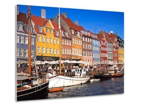 Waterfront District, Nyhavn, Copenhagen, Denmark, Scandinavia, Europe-Gavin Hellier-Metal Print