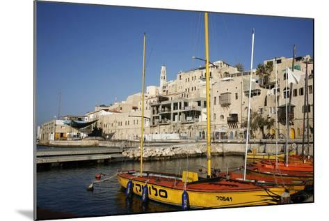 View over the Port and Old Jaffa, Tel Aviv, Israel, Middle East-Yadid Levy-Mounted Photographic Print