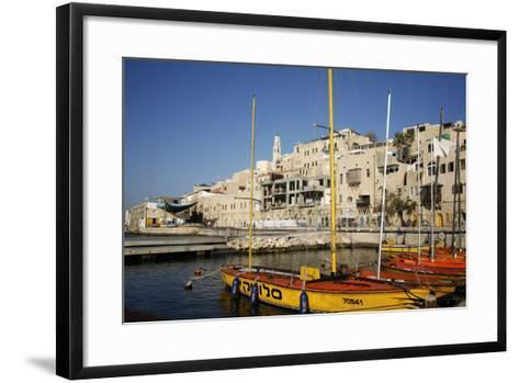 View over the Port and Old Jaffa, Tel Aviv, Israel, Middle East-Yadid Levy-Framed Art Print