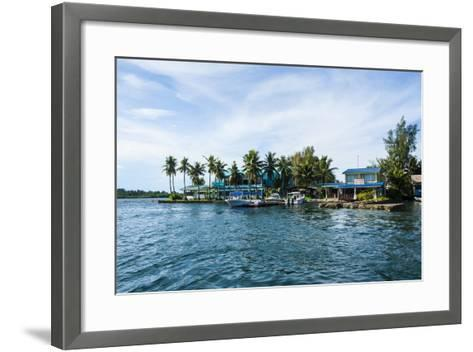 The Harbour of Koror, Palau, Central Pacific, Pacific-Michael Runkel-Framed Art Print