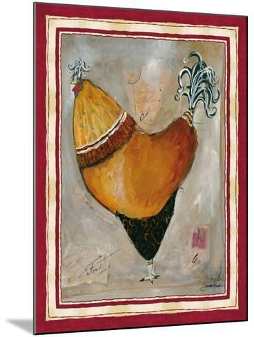 French Rooster II-Jennifer Garant-Mounted Giclee Print