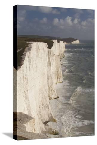 Seven Sisters Chalk Cliffs, South Downs, England-Peter Cairns-Stretched Canvas Print
