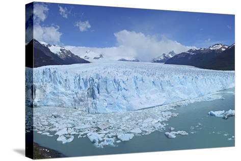 Perito Moreno Glacier, Panoramic View, Argentina, South America, January 2010-Mark Taylor-Stretched Canvas Print