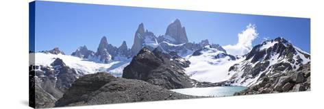 Mt Fitz Roy and Laguna Los Tres, Panoramic View, Fitzroy National Park, Argentina-Mark Taylor-Stretched Canvas Print
