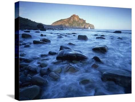 Landscape Gaztelugatxe Coast, Basque Country, Bay of Biscay, Spain, October 2008-Popp-Hackner-Stretched Canvas Print