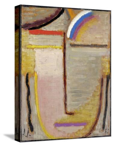 Abstract Head-Alexej Von Jawlensky-Stretched Canvas Print