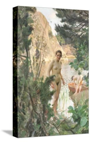 Nudes Swimming in a Lake-Anders Leonard Zorn-Stretched Canvas Print
