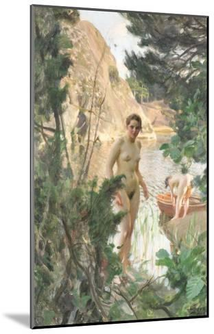 Nudes Swimming in a Lake-Anders Leonard Zorn-Mounted Giclee Print