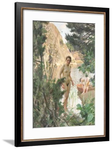 Nudes Swimming in a Lake-Anders Leonard Zorn-Framed Art Print