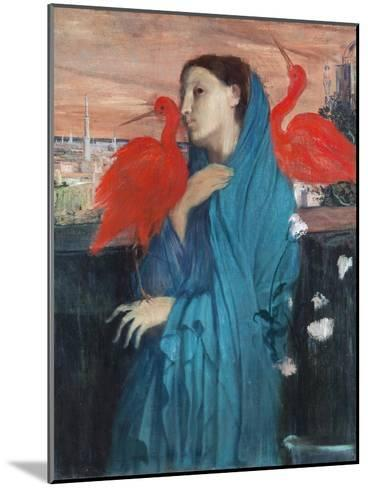 Young Woman with Ibis-Edgar Degas-Mounted Giclee Print
