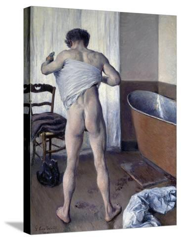 Man at His Bath-Gustave Caillebotte-Stretched Canvas Print