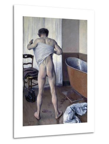 Man at His Bath-Gustave Caillebotte-Metal Print