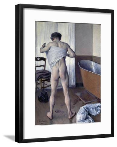Man at His Bath-Gustave Caillebotte-Framed Art Print