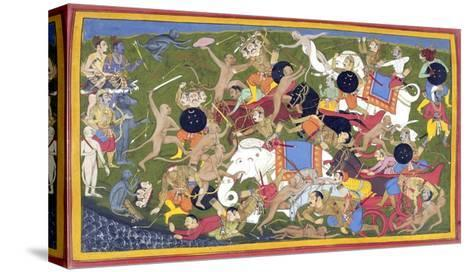 Battle Between the Armies of Rama and the King of Lanka--Stretched Canvas Print