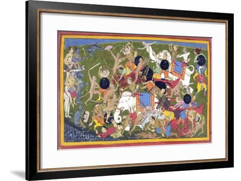 Battle Between the Armies of Rama and the King of Lanka--Framed Art Print